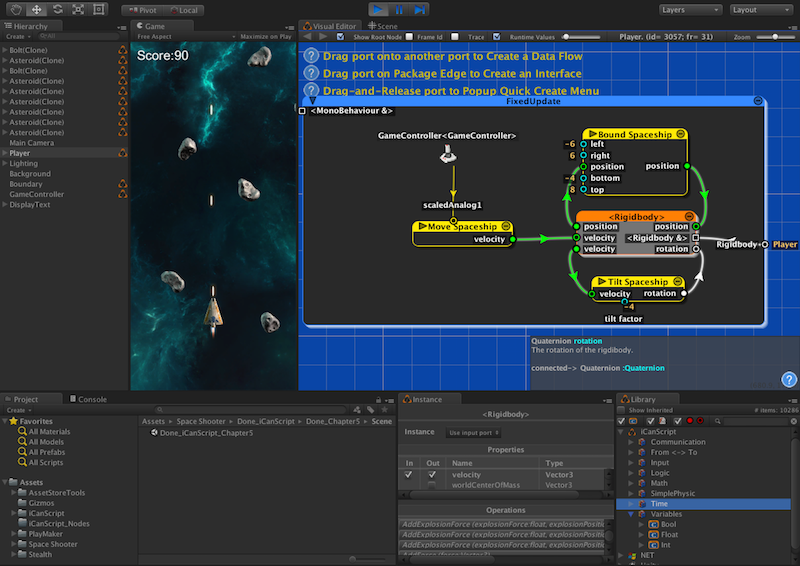 how to create trigger script unity